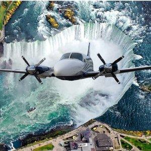 $116.25(原价$350)FlYGTA Airlines 尼亚加拉大瀑布/多伦多市区 观光小飞机双人游+香槟