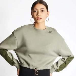 无XL码Nike Swoosh 橄榄绿卫衣