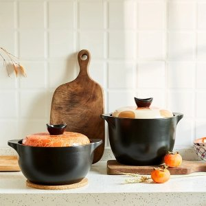 LIFEASECeramic Enamel Stew & Soup Pot - (2.2L, 3.5L)