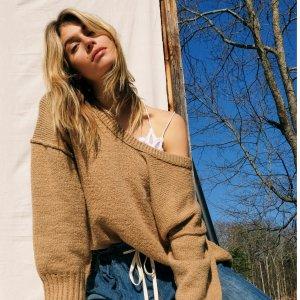 低至4折 $19起Nordstrom 毛衣热卖,收Vince、Free People美衣