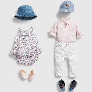 3折起+ 额外5折 封面套装$18上新:Gap 童装超低价  $12收超实用宝宝Gown 套装