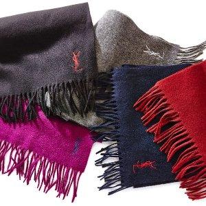 $39YVES SAINT LAURENT Wool Scarf @ Century 21