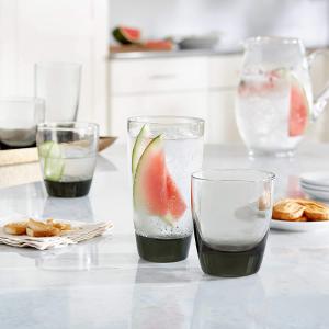 $19.99(原价$67.88)Libbey 利比玻璃杯两款尺寸16件套 优质无铅 厚实耐用