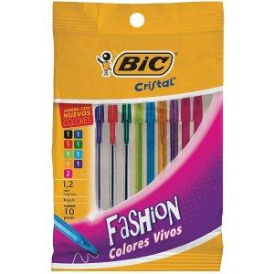 $1.97 凑单必备史低价:Bic 彩色圆珠笔1.2mm 14支装 共9种颜色