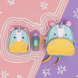 低至5折 $5.5收粉红豹餐盘Skip Hop 小动物背包 宝宝餐具水杯 每天萌萌哒去学校