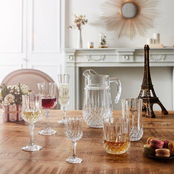 水晶玻璃杯4件套或大凉杯 多款可选