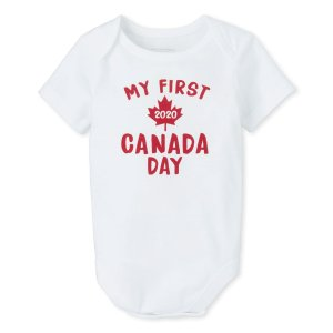 The Children's PlaceMy First Canada Day 2020' 婴儿连体衣