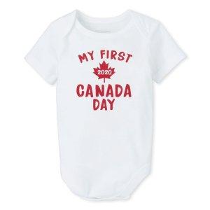 My First Canada Day 2020' 婴儿连体衣