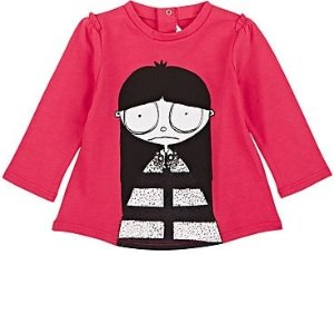 额外5折Barneys Warehouse  儿童服饰清仓,封面Little Marc丑娃T恤$18.5
