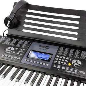 8.7折 $139.13购齐全套RockJam 61键电子琴 加送琴架+坐凳+耳机+学习 App