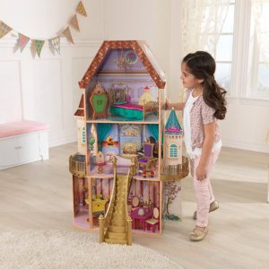 Disney Princess Belle Enchanted Dollhouse with 13 Accessories by KidKraft
