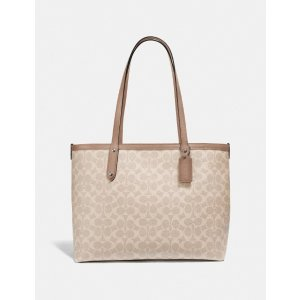 CoachCentral Tote With Zip in Signature Canvas