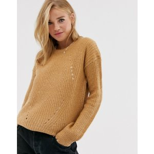 Brave Soulfab sweater in spiced camel | ASOS