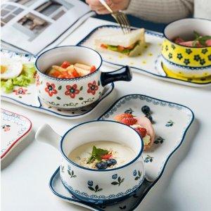 摩登主妇日式一人食儿童陶瓷早餐盘 美国本地发货-淘宝网