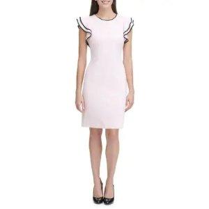 Tommy Hilfiger蝴蝶袖白色长裙