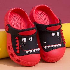 售价9.95 轻便防滑儿童恐龙洞洞鞋 绝对是你家宝贝今夏利用率最高的鞋!