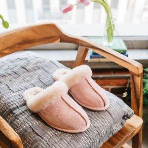 低至4折+额外9折 封面款$59UGG 好价特卖 新款毛毛拖鞋$74 经典雪地靴$99