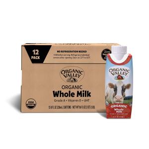 Organic Valley 有机全脂牛奶 8oz 12盒装