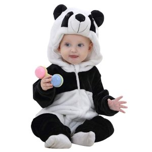 As low as $14.99IDGIRL Baby Costume, Animal Cosplay Flannel Romper Outfits 3-36 Months