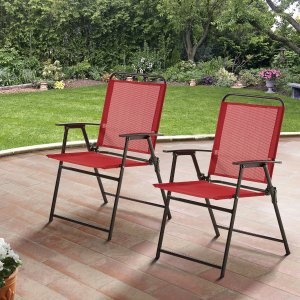 $35.12Mainstays Pleasant Grove Sling Folding Chair Set of 2 @ Walmart