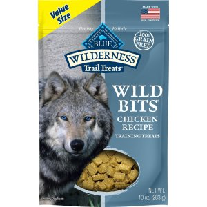 Blue Buffalo WildernessTrail Treats Chicken Wild Bits Grain-Free Training Dog Treats, 10-oz bag - Chewy.com
