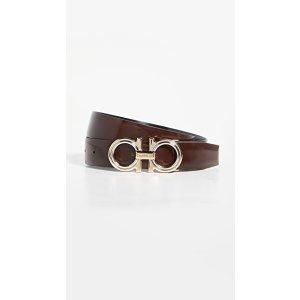 Salvatore FerragamoClassic Signature Double Adjustable Belt