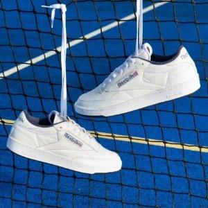 低至5折+额外8折Reebok 夏季大促 男女款潮流鞋服、Club C复古运动鞋、跑步鞋热卖