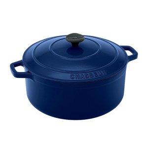 深蓝色铸铁锅