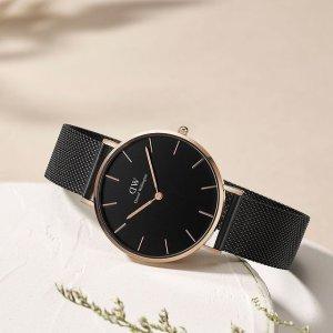 7.1折 $167.91(官网原价$235)手慢无:Daniel Wellington 36mm表盘经典黑色款手表