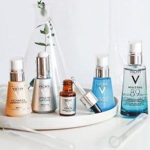 无门槛8折最后一天:Vichy 薇姿护肤品热卖 收89号肌底精华、眼部精华
