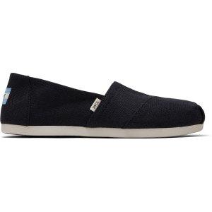 Toms黑色帆布鞋