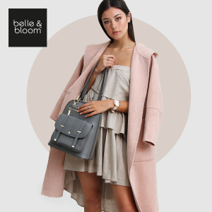 6折+免费围巾 收牛油果色大衣独家:Belle & Bloom 全场美包、配饰热卖
