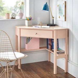 Porch & DenLincoln Corner Desk - blush