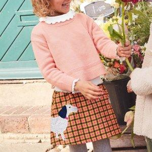 6折起 包邮包退上新:Mini Boden 儿童服饰促销 英国风情,品质精良