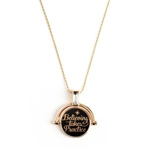 Disney® Believing Takes Practice Spinner Expandable Necklace