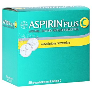 Bayer维C增强抵抗力!每片仅€0.31!Aspirin 阿司匹林 维C泡腾片 40片