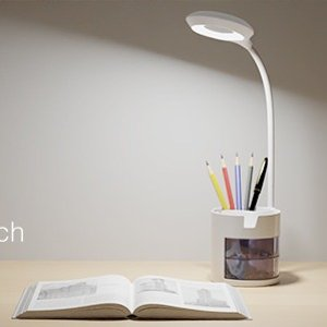 折后€14.99 可充电设计Hepside LED护眼台灯热卖 带笔筒 触摸式按键亮度可调