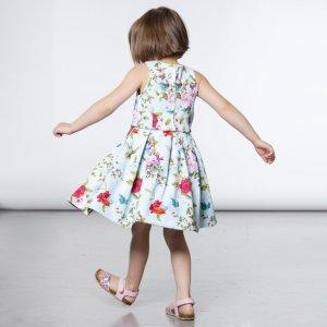 法式小优雅女童印花背心裙