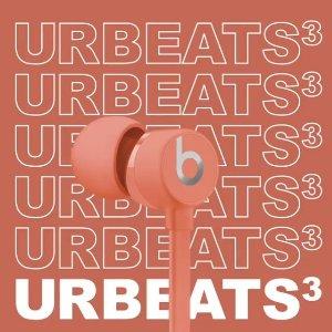 $39.99(原价$99.99) 包邮Beats urBeats 3 入耳式 Lightning插口 线控耳机