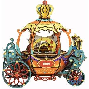 RobotimeDIY 3D 南瓜马车音乐盒