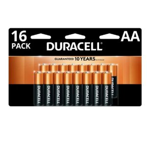 额外8折+返点 相当于免费Duracell AA/AAA 铜头碱性电池促销, 16颗AA电池 $15.5返$15.5