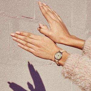 一律$49+包邮 超低美价Fossil 精选时装女表特卖 渐变玫瑰金水晶超美