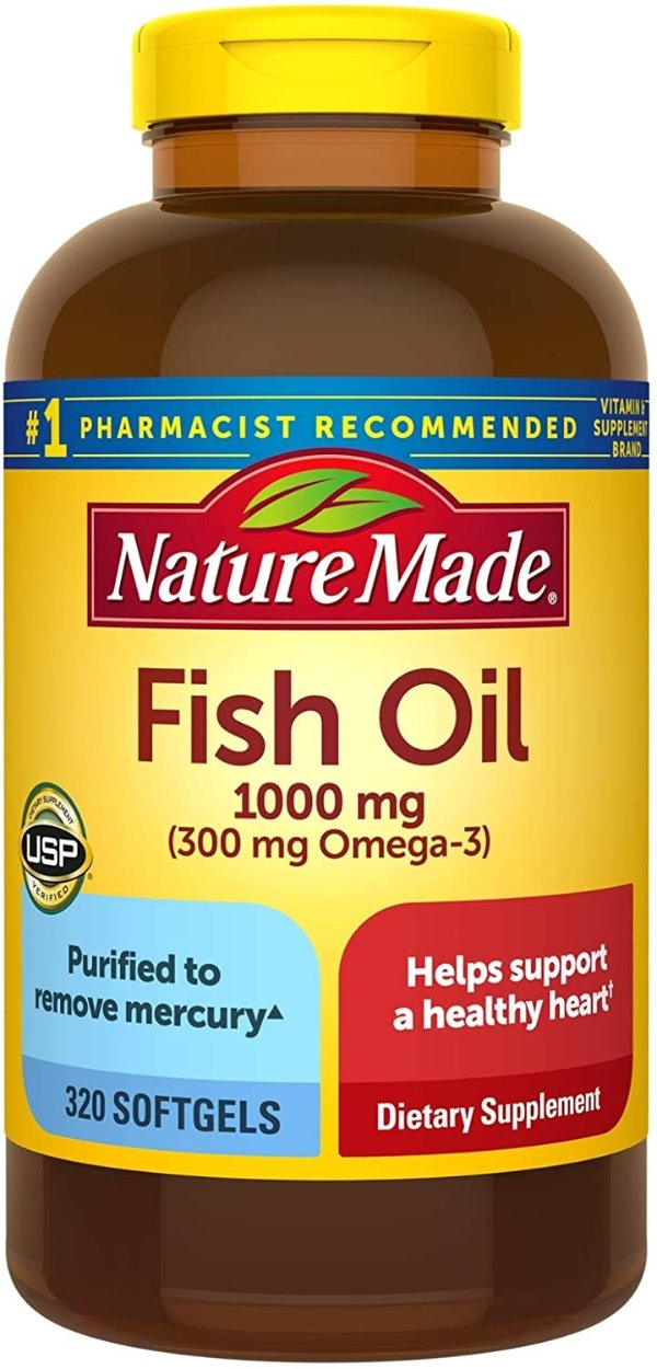 含OMEGA3高浓度鱼油 1000mg 320粒