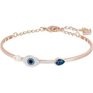 SwarovskiSymbolic Evil Eye Bangle, Blue, Mixed Plating by