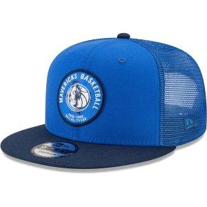 Men's Dallas Mavericks New Era Blue Local Patch Trucker 9FIFTY Snapback Hat