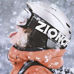 $11.88(原价$26.39)白菜价:ZIONOR X10 防雾 UV防护双色镜片滑雪护目镜 中性款