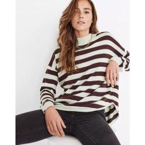 MadewellAshbury Mockneck Sweater in Kelsey Stripe