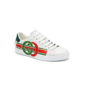 Gucci官网定价$790女士双G鸳鸯色运动鞋