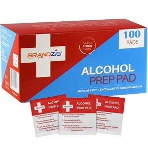 $3.99BRANDZIG 酒精棉片独立包装 100片