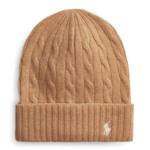 Ralph Lauren纯羊毛焦糖色毛线帽